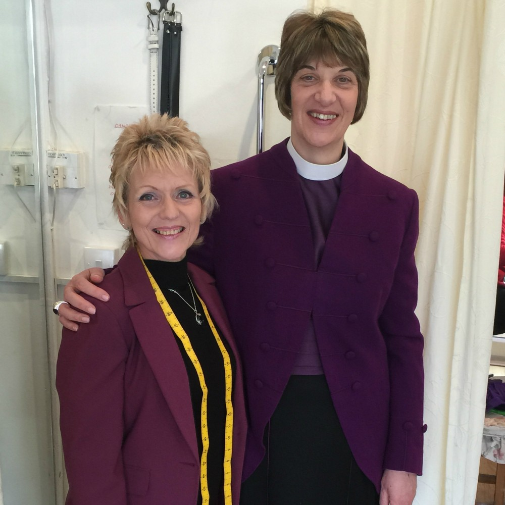 Julie Mortimer with Bishop Rachel