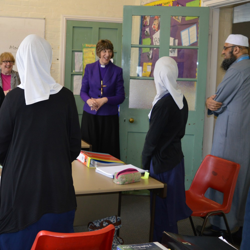 Bishop Rachel tours the school