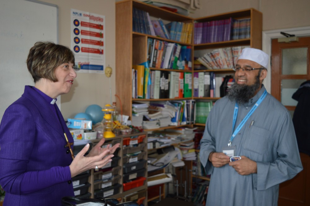 Bishop Rachel with Mufti Patel