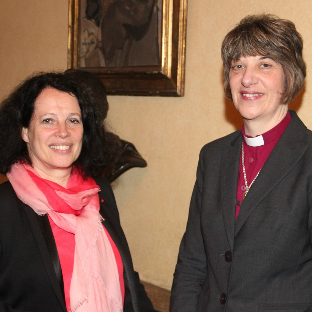 Her Excellency Sylvie Bermann the French Ambassador with Bishop Rachel