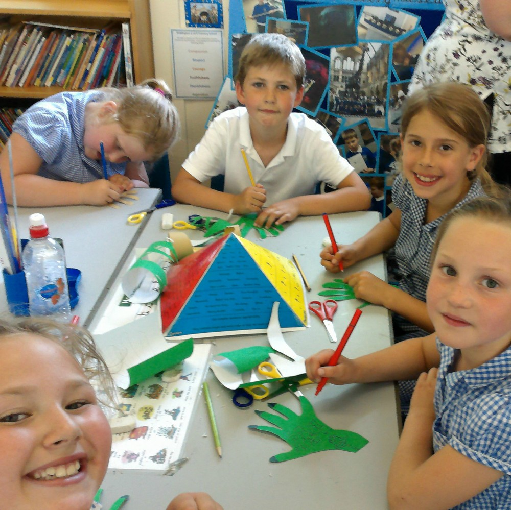Children at Siddington CE Primary School