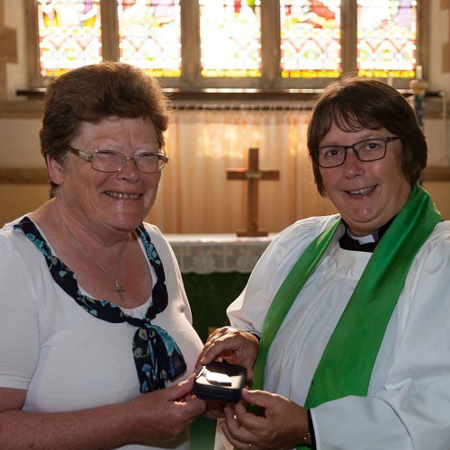 Barbara Craig and the Revd Ros Greenhalgh