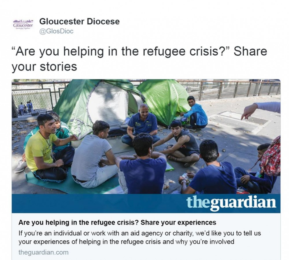 Are you helping with the refugee crisis