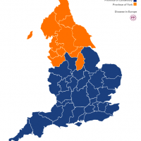 Map of Church of England dioceses