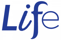 LIFE logo trans navy blue