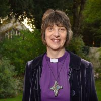 Pic shows Rachel Treweek, Bishop of Gloucester, in the garden of her residence in the city.