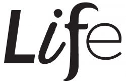 Grey scale LIFE logo