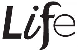 Grey scale LIFE logo