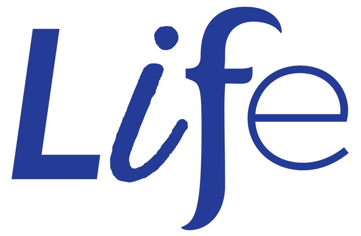 Life logo in blue