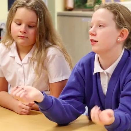 Bishop talk to Primary school children about body image