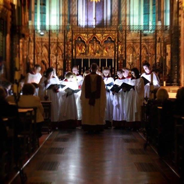 All Saints candle service