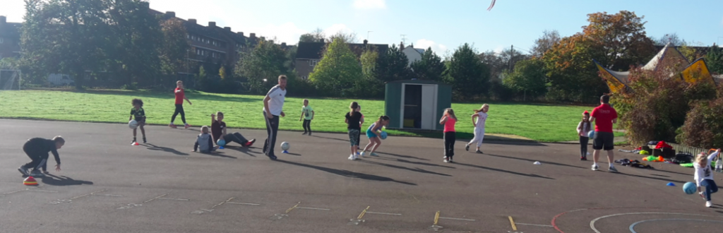 CHeltenham multi-sports camp; out on the court