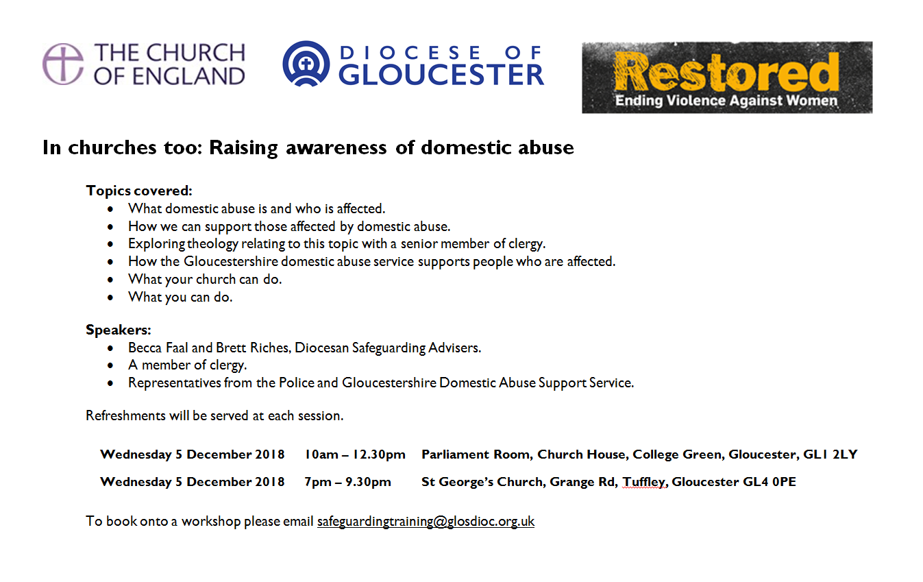 Domestic Abuse Workshops 2018