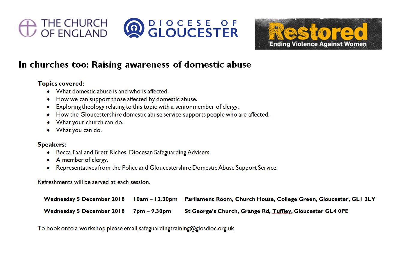 Domestic Abuse Workshops 2018