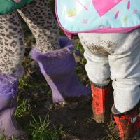 Children in wellies