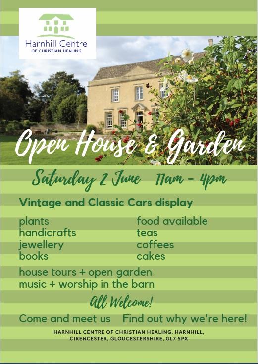 Harnhill Centre for Christian Healing: Open House and Garden