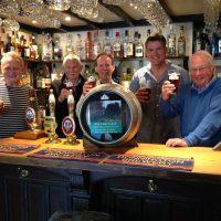 Beer festival organisers in pub