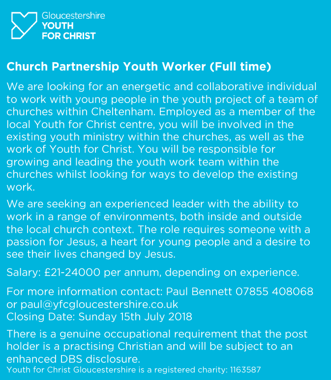 Church Partnership Youth Worker