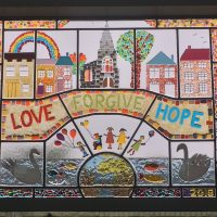New window for Lechlade, created by the local children