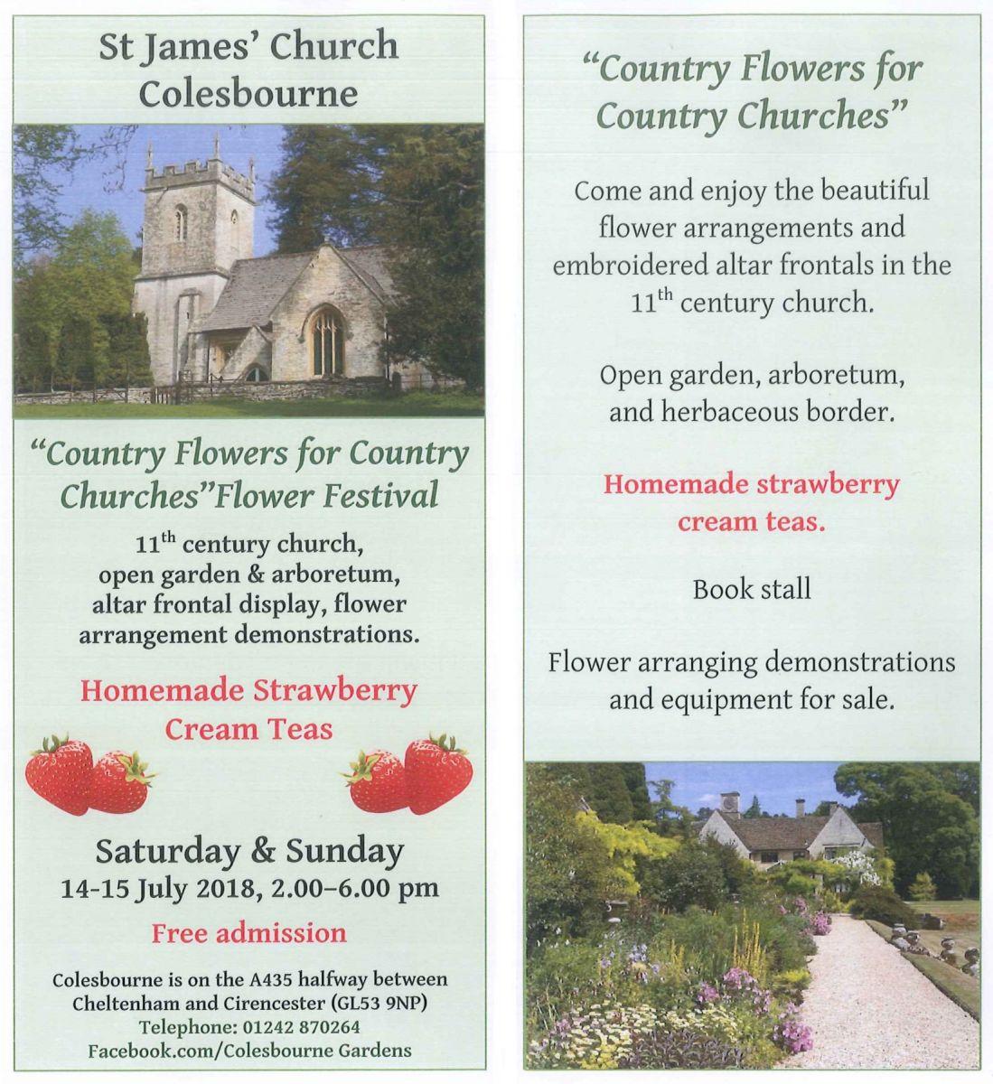 St James' Church Colesbourne Flower Festival