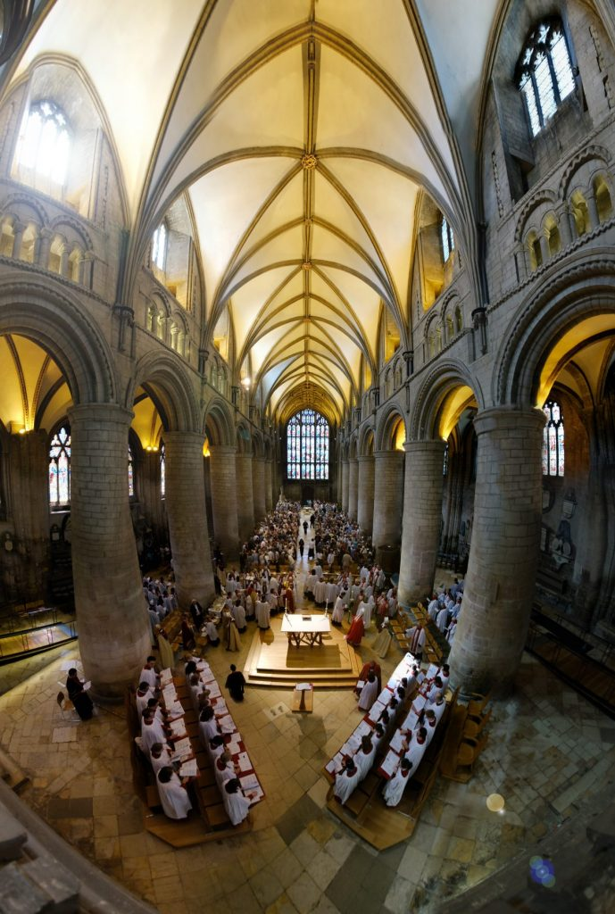 Gloucester cathedral nave panorama ordinations 2018