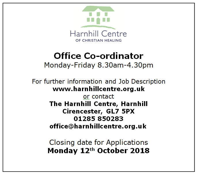 Office Co-ordinator for Harnhill Centre