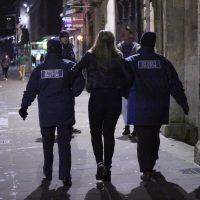 Street Pastors help a young woman