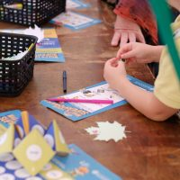 Decorating messy craft