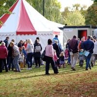Cheltenham Festival tent
