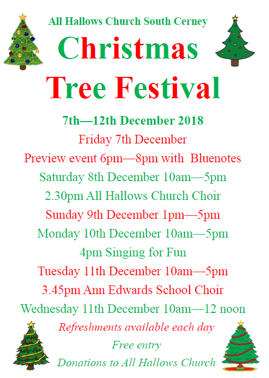 Christmas Tree Festival at All Hallows Church South Cerney