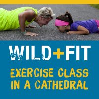 Wild and fit zumba in Gloucester cathedral