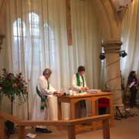 Bishop Rachel presiding churchdown service healing