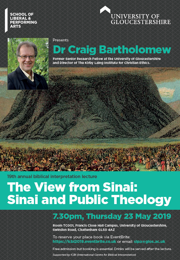 The Annual ICBI Lecture-The View from the Sinai: Sinai and Public Theology