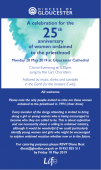 25th Anniversary Celebration of women ordained into the priesthood
