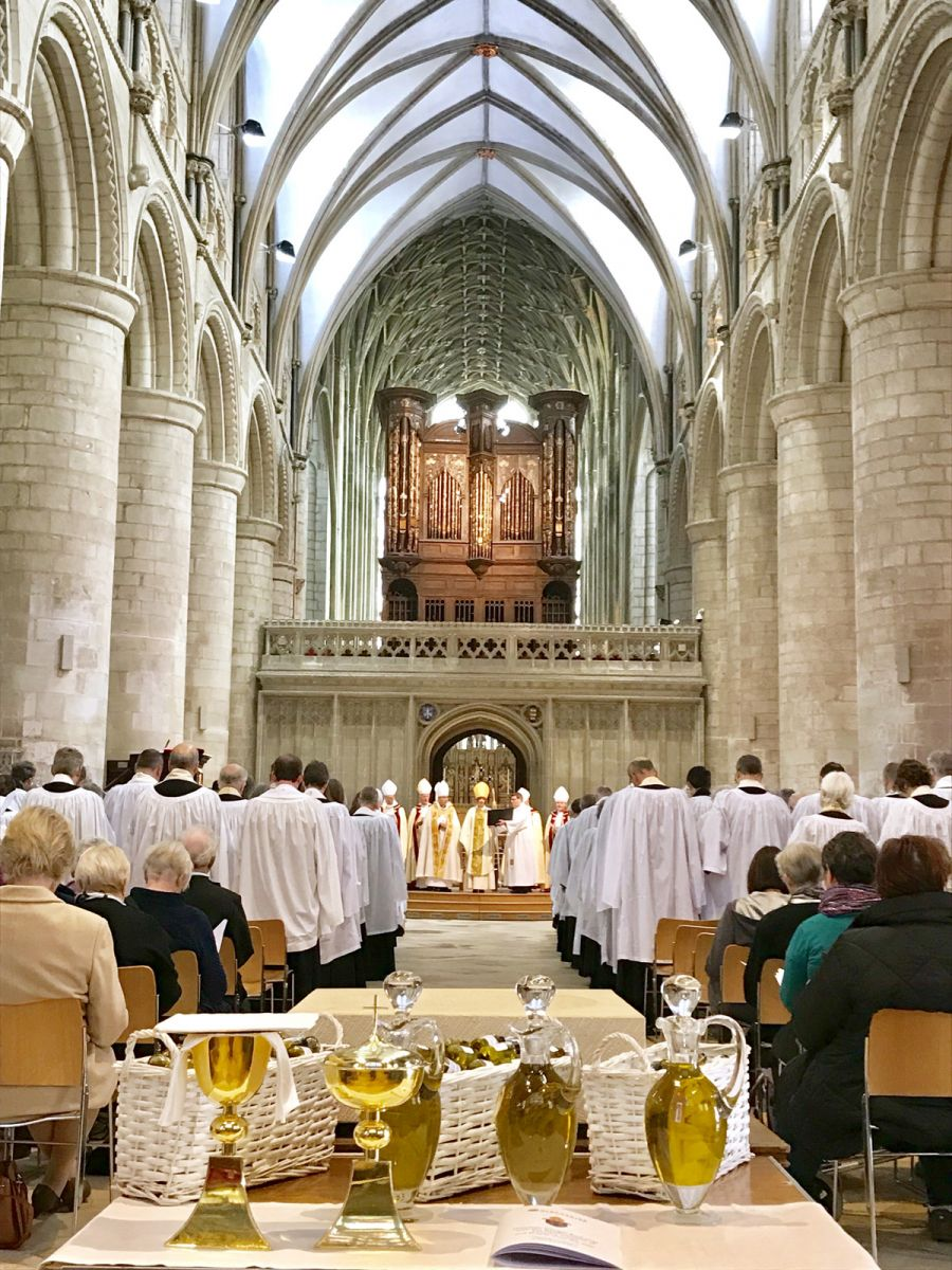 2019: Chrism Eucharist at Gloucester Cathedral