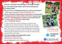 PSALMS sports ministry vacancies