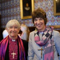 Bishop Rachel with Bishop Christine of Newcastle