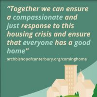 Together we can ensure a compassionate and just response to this housing crisis and ensure that everyone has a good home