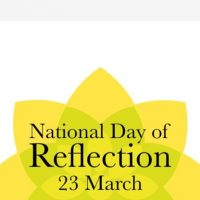 Yellow ribbons for National Day of Reflection