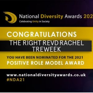 Bishop Rachel nominated for the National Diversity Awards