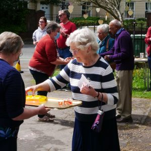People serving refreshments