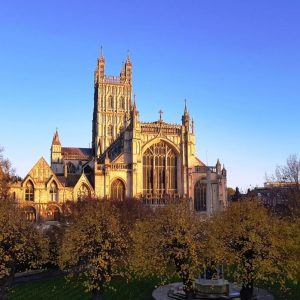 Pilgrimage from Tewkesbury Abbey to Gloucester Cathedral